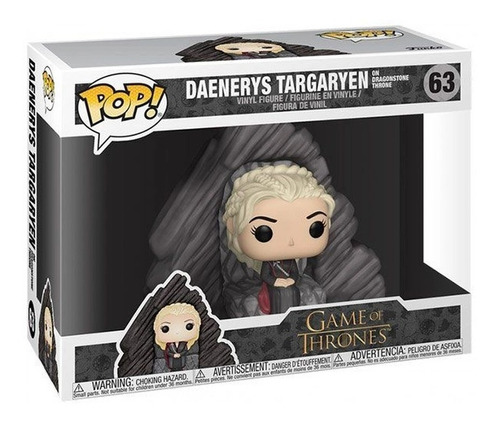 boneco funko pop game of thrones got daenerys throne 63