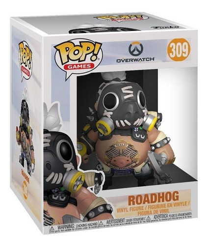 boneco funko pop games overwatch roadhog 309