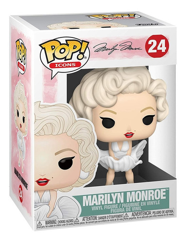 boneco funko pop icons marilyn monroe 24