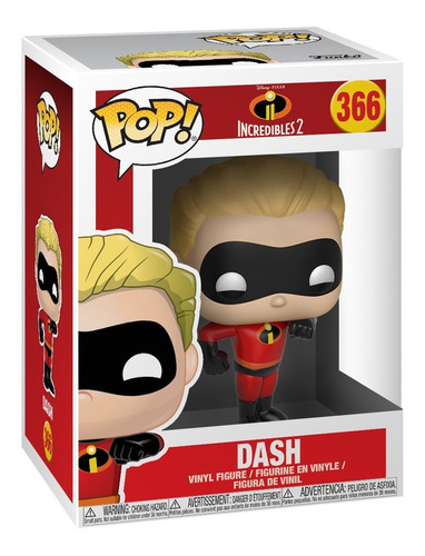boneco funko pop incredibles incriveis dash flecha 366