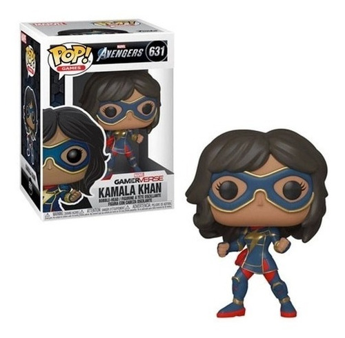 boneco funko pop miss marvel kamala khan 631 vingadores game