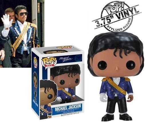 Boneco Funko Pop Rock Michael Jackson Military Rarrissimo