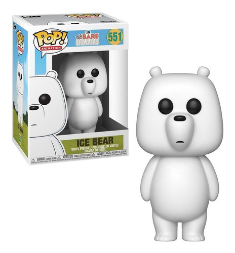 boneco funko pop we bare bears - ice bear 551