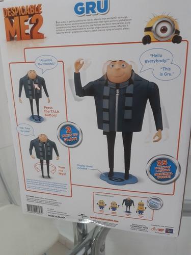 boneco gru - talking genius meu malvado favorito - toy
