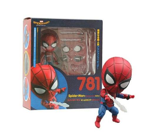 boneco homem aranha articulado nendoroid de volta ao lar