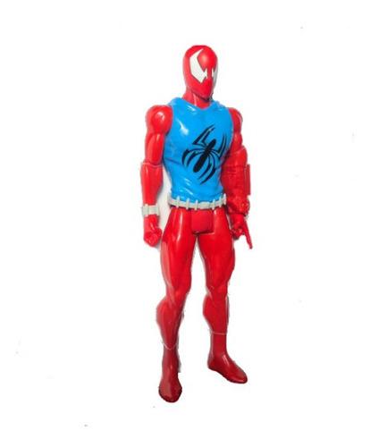 boneco homem aranha scarlet spider titan hero - hasbro
