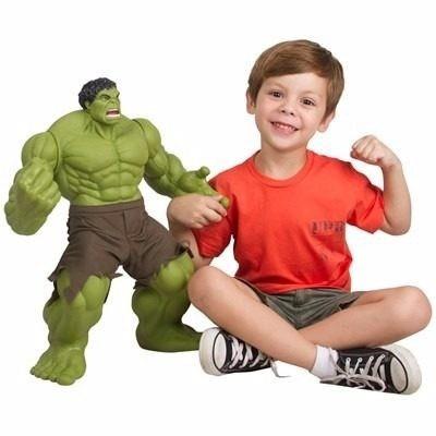 Boneco Hulk Olhos Reais +capitão America Gigante 55cm Mimo - R  449 ... 42171f53c8d