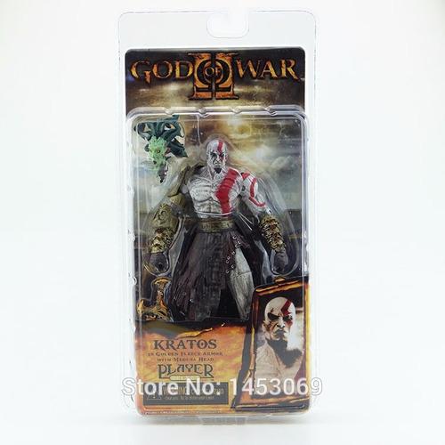 boneco kratos jogo god of war de resina 18cm deus da guerra