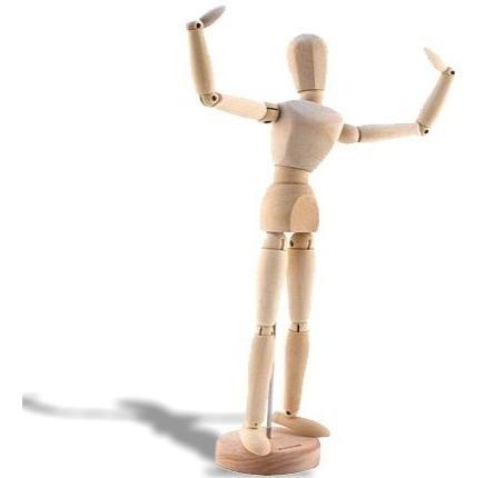 boneco manequim articulado 30cm *frete+barato*