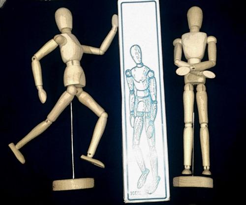 boneco manequim madeira articulado para desenho 30 cm novo!!
