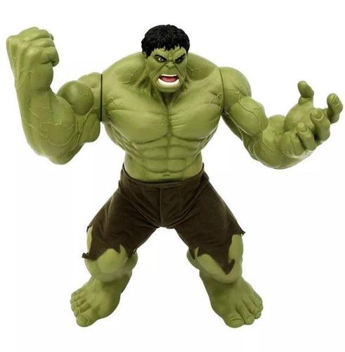 boneco marvel hulk verde premium gigante 55 cm mimo