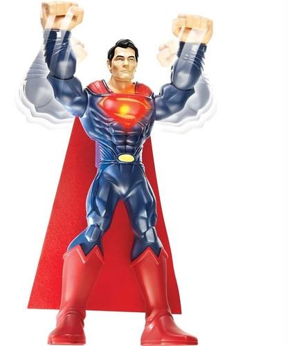 boneco mega superman 25cm super soco - mattel y8961