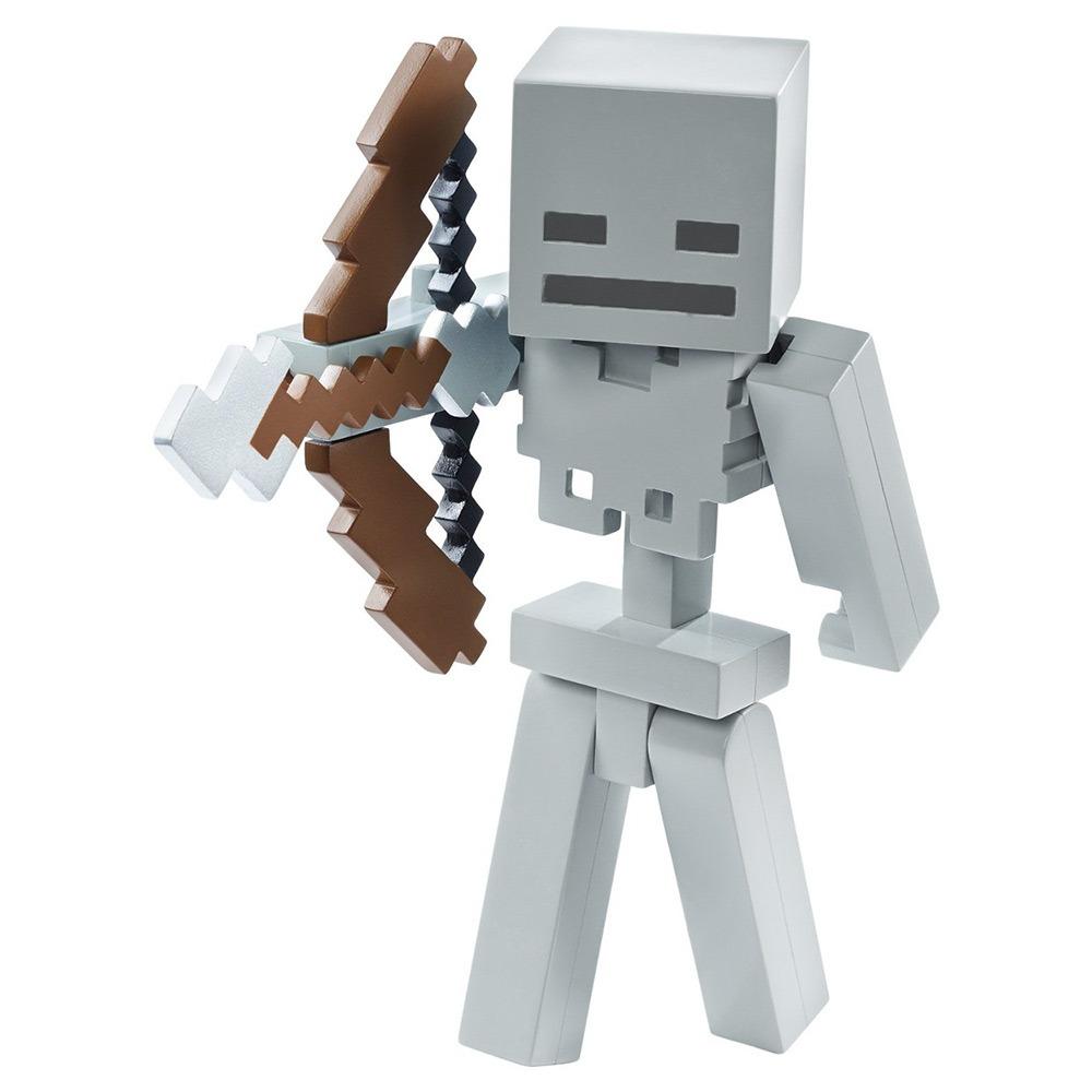 boneco minecraft esqueleto lançador de flechas mattel r 129 99