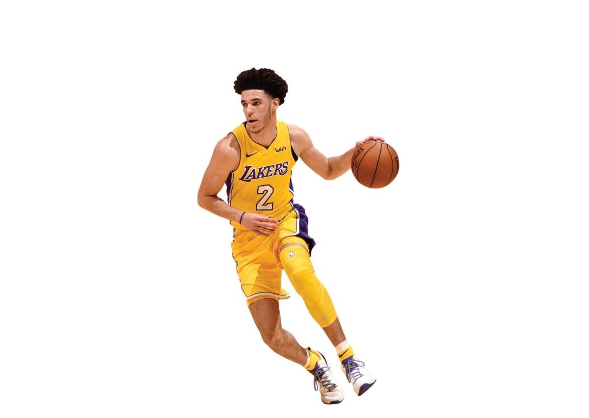 d54e30bdad Boneco Nba Lonzo Ball Los Angeles Lakers Estatua + Bone Nba - R  289 ...
