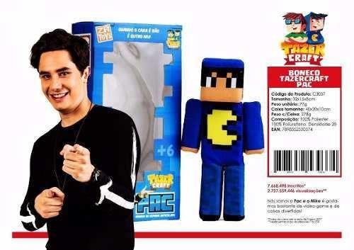 boneco pac e mike tazer craft zr toys frete incluso