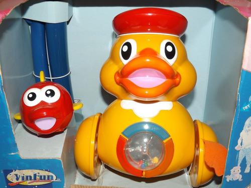 boneco pato musical win fun c/ vídeo criança bebê