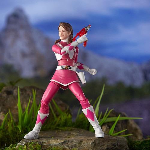 boneco pink ranger lightning collection rosa power rangers