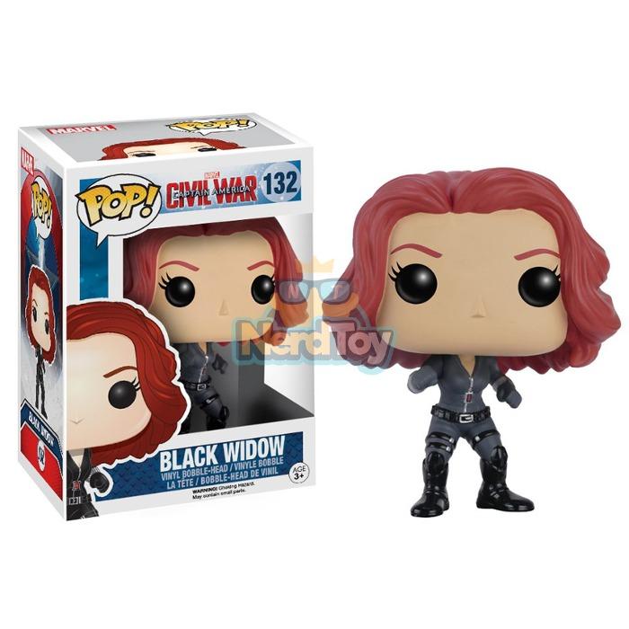 Boneco Pop Funko Captain America 3 Civil War Black Widow