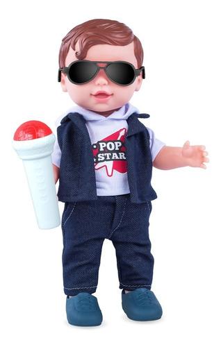 boneco pop star baby's collection 100% vinil - cod 361