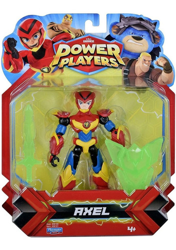 boneco power players - figura articulada axel 12 cm - sunny