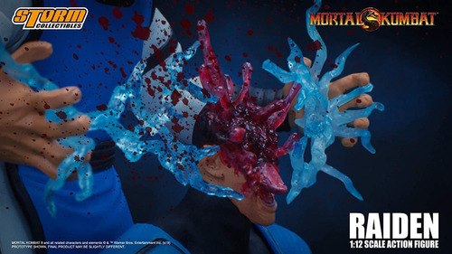 boneco raiden mortal kombat storm collectibles 1/12 mk3