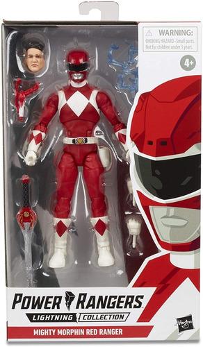 boneco red ranger lightning collection vermelho power