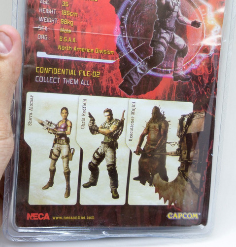 boneco resident evil 5 chris redfield actionstars pvc capcon