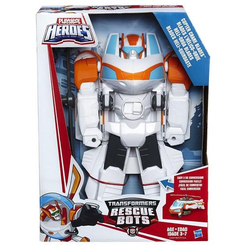 boneco robô transformers helicóptero guindaste hasbro c0287