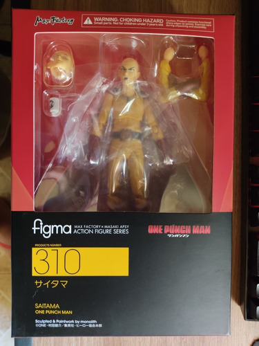 boneco saitama + genos figma original m. facto one punch man