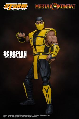 boneco scorpion mortal kombat storm collectibles 1/12 mk3
