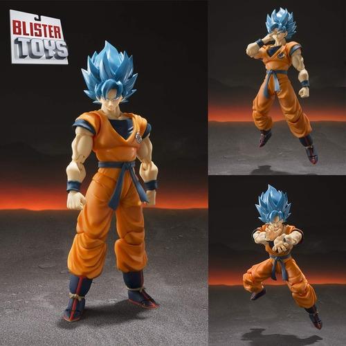 boneco sh figuarts son goku 2.0 god blue ssgss dragon ball