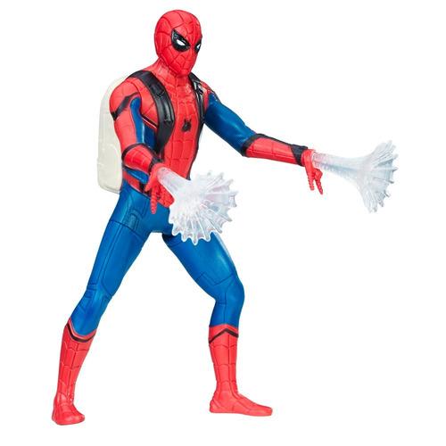 boneco spider-man homecoming c/movim filme novo frete gratis