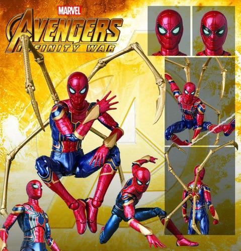 boneco spider-man mafex iron spider ferro spiderman 081
