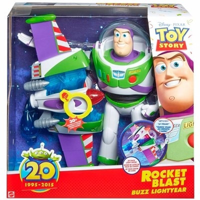 boneco toy story buzz lightyear turbo jato - mattel cfm66
