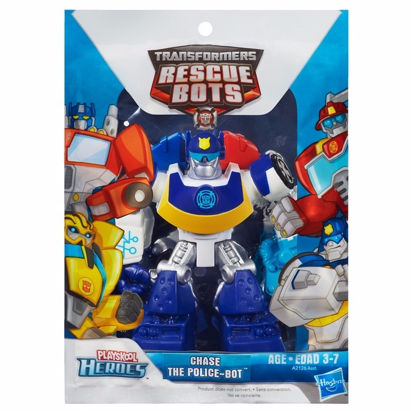 Boneco transformers rescue bots chase the police bot - Playskool helmet heroes police officer ...