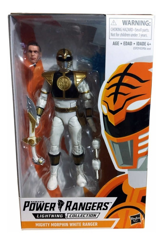 boneco white ranger lightning collection power rangers