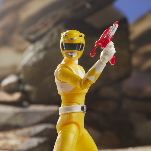 boneco yellow ranger lightning collection power amarela trin