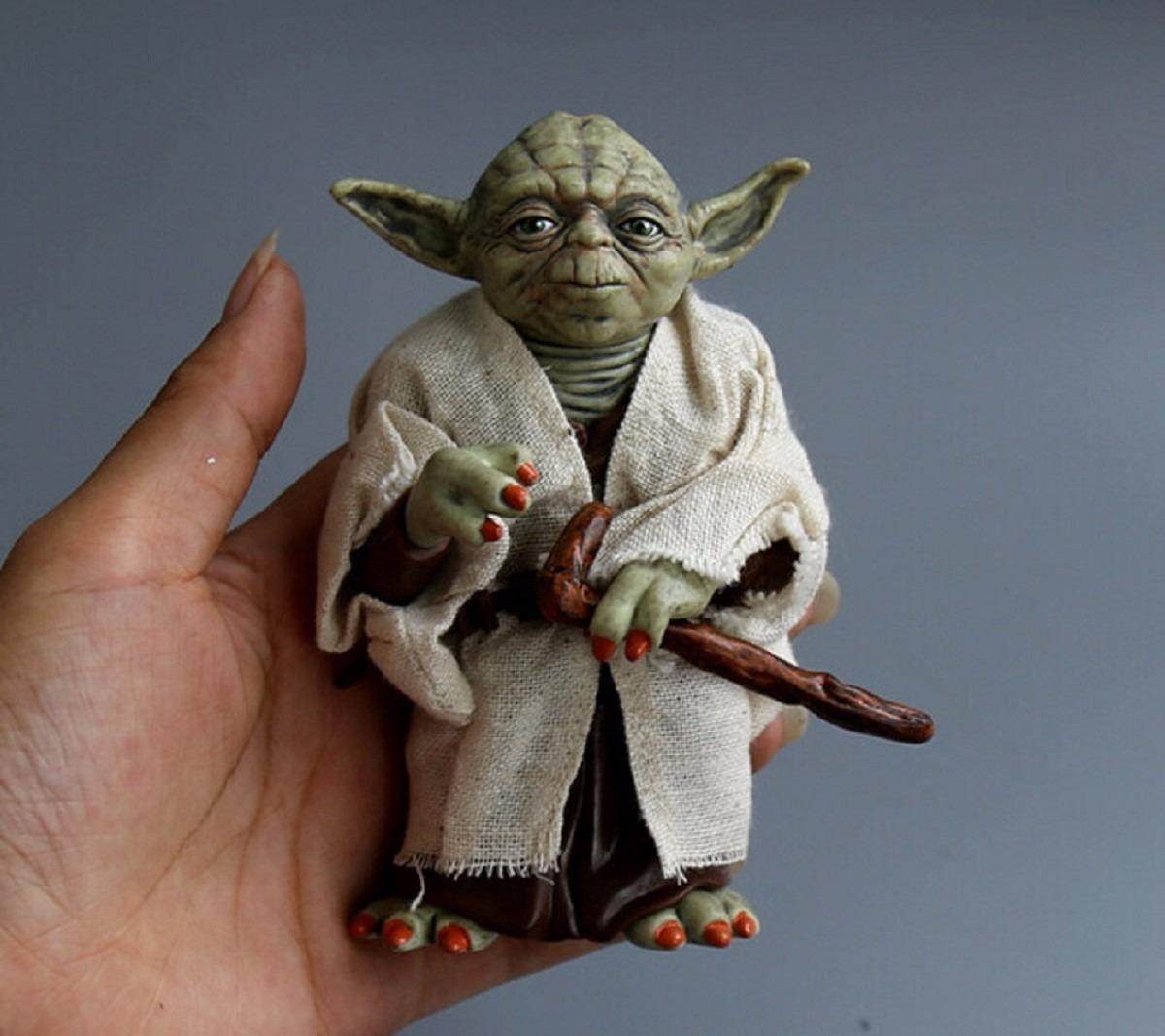 Aparador Sala De Jantar Moderno ~ Boneco Mestre Yoda Action Figure Star Wars 12cm Jedi Coleç u00e3o R$ 85,49 em Mercado Livre