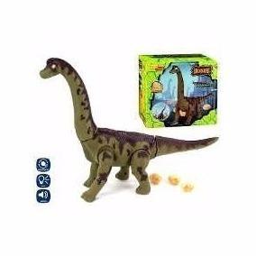 Dinossauro Eletrônico Anda, Bota Ovos, Sons E Luz E Projetor
