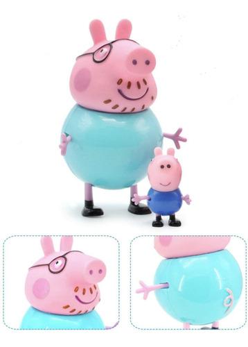 bonecos coloeção familia peppa pig mini figuras sunny 2301