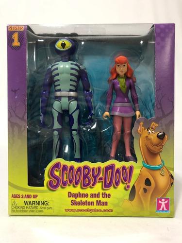 bonecos daphne & skeleton man lacrado - coleção scooby-doo