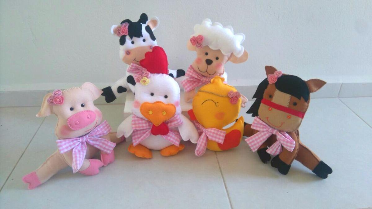 bonecos fazenda menina feltro - 6 personagens. Carregando zoom. d885f8331d3