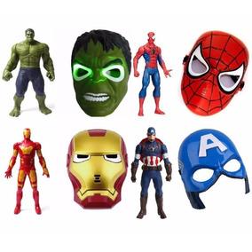 2b3eed133cee5 Bonecos Super Herois Homem Aranha Ferro Hulk Capitao America ...