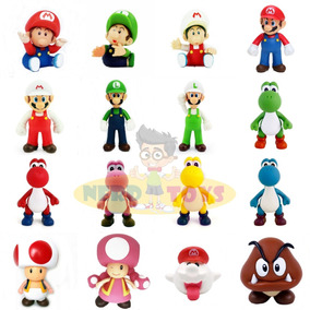 5633856d047b6 Bonecos Mario Luigi Yoshi Toad Peach Bowser Donkey Kong - Brinquedos ...
