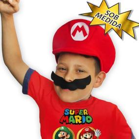 0b2015852019c Bone E Bigode Super Mario no Mercado Livre Brasil