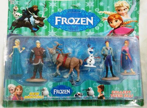 bonecos frozen kit com 6 peças