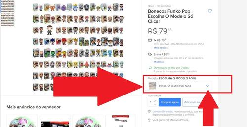 bonecos funko pop escolha o modelo só clicar