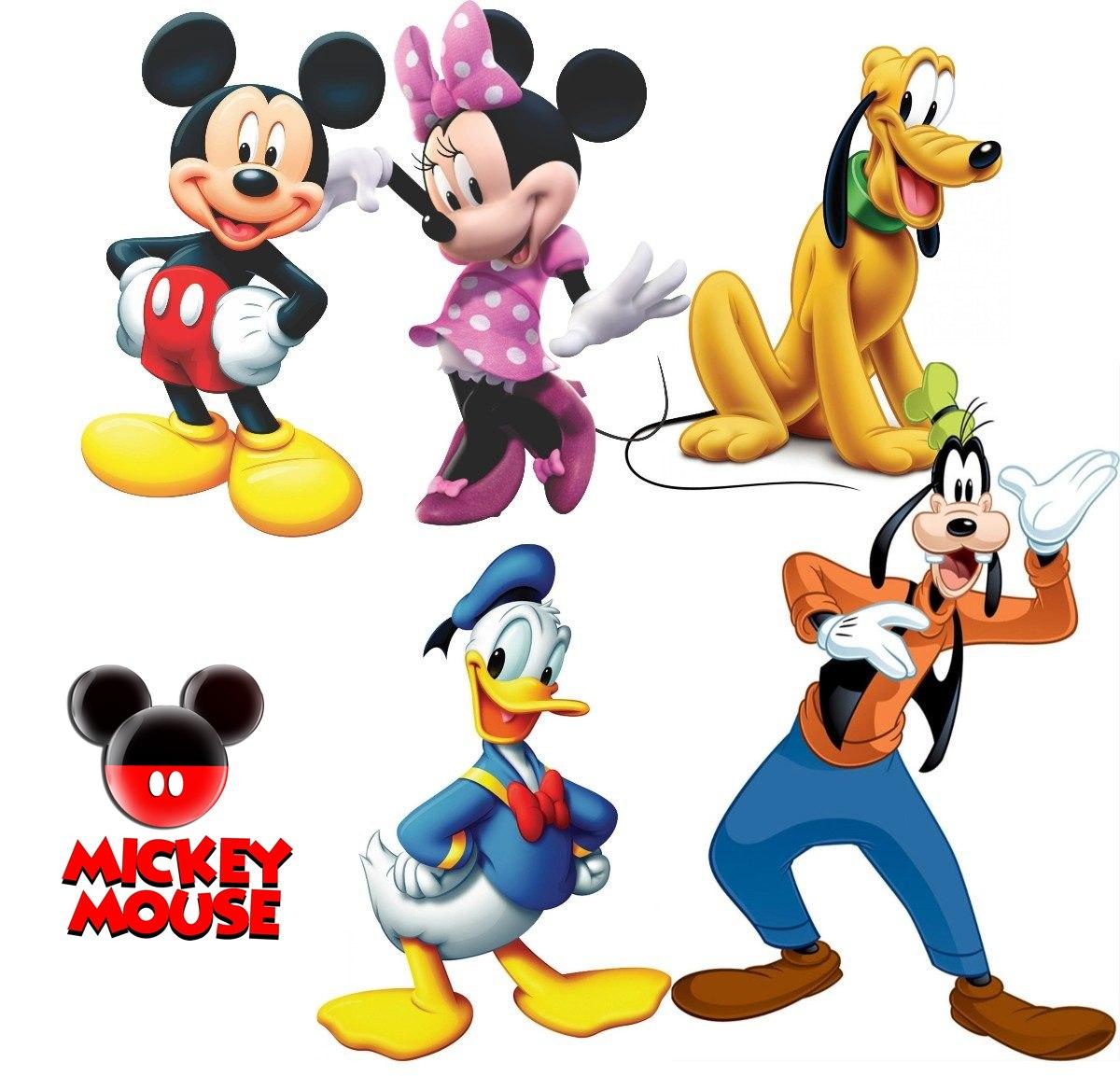 Bonecos Mickey Mouse E Sua Turma Kit Com 5 Personagens
