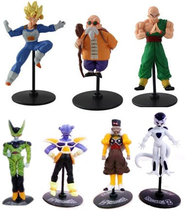 bonecos miniaturas dragon ball z unidade goku vegeta trunks