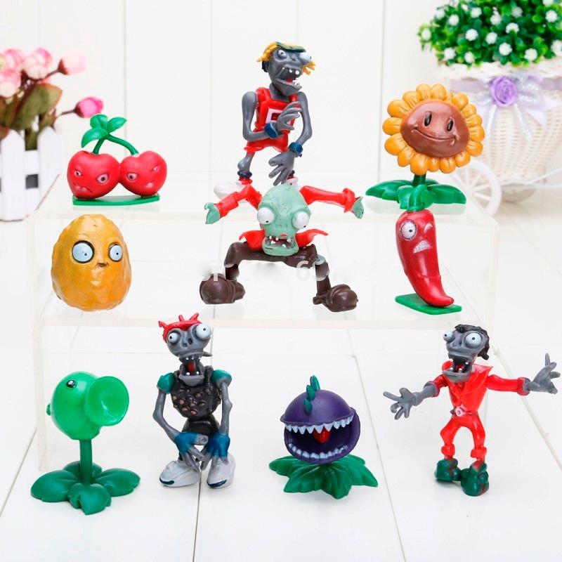 bonecos plants vs zombies plantas vs zumbis 10 peças r 119 50 em